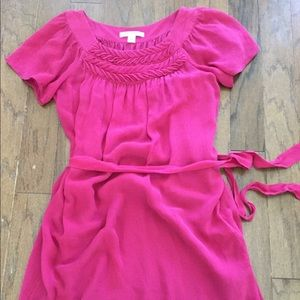 Women's Banana Republic silk pink dress